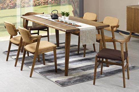 全实木一桌六椅