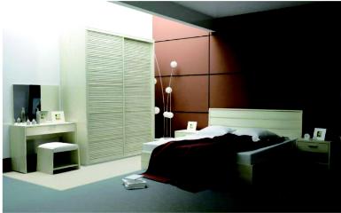 <b>史丹利衣柜</b>卧室七件套 含衣柜+床+床垫+床头柜*2+梳妆台+梳妆凳*2