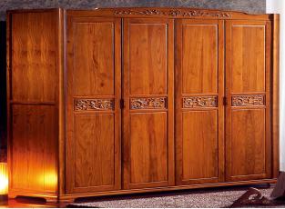 <b>宇皇家具</b>巴梨风韵系列 型号:BL6601   四门衣柜